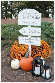 outdoor fall wedding ideas fall wedding ideas with pumkins and wedding sign deer pearl
