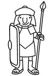 cartoon drawing roman soldier ancient rome coloring