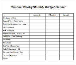 sample weekly budget 7 documents in word pdf excel