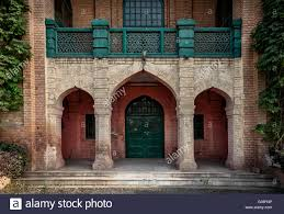 a very traditional style entrance of an old building in peshawar