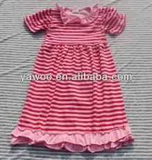 new stripe chiffon ruffle kids party wear dresses for girls simple