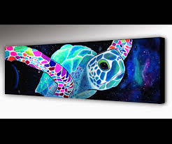 sea turtle wall art outer space surf art sea turtle