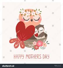 happy mothers day greeting card cute stock vector 399099748