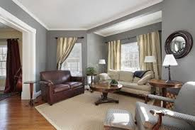 brown leather sofa with gray walls gray walls brown leather sofa