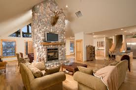 Vaulted Ceiling Tv Mount by 200 Great Room Ideas Stone Fireplace Surround Stone Fireplaces
