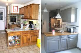 renovation cuisine bois avant apres repeindre une cuisine en chene vernis wrvlehvy avant apres