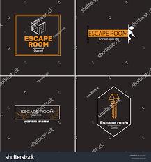 logo quest room reallife room escape stock vector 584239876