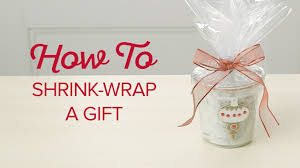 shrink wrap gift paper how to shrink wrap a gift