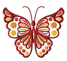 4 hobby com machine embroidery designs butterflies