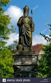 Saline Bad Reichenhall Fountain Statue St Rupert Of Salzburg Alte Saline Old Salt