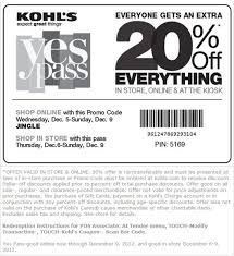 kohl s coupon save 20 everything time to shop exp 12 9