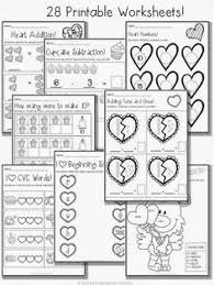 february printable packet kindergarten literacy and math