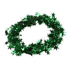 23 green tinsel garland decoration in pendant