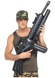 halloween army costumes inflatable machine gun prop fake weapons halloween costume ideas