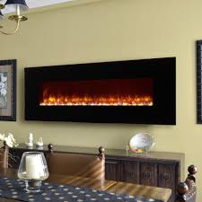 modern electric fireplaces allmodern led wall mount fireplace