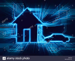 technology house connected house and electric car future home automation household