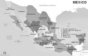 map of mexico with states mexico states map black and white black and white states map of