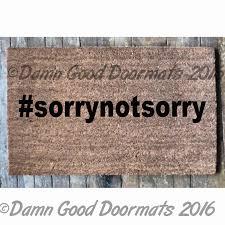 stfu shut the up hashtag rude doormat from damn good doormats