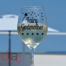 godmother wine glass fairy godmother wine glass decals stickers dijac