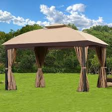 Patio Gazebo Cloud Mountain Garden Gazebo Polyester Fabric Patio Backyard