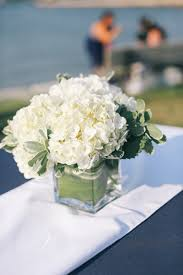 hydrangea centerpiece classic nautical preppy white centerpiece greenery hydrangea