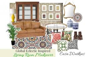 a global eclectic room makeover using stencils stencil stories