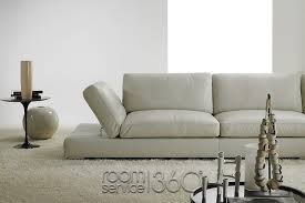 Mistral Contemporary Designer Leather Sofa By Polaris Made In Italy - Sofas contemporary design