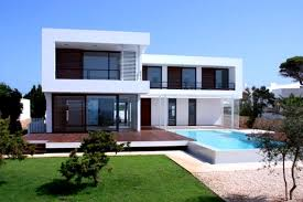 most popular outside home paint color with square swimming pool