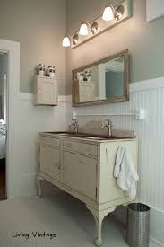 Salvage Bathroom Vanity by Finished Master Bathroom Pictures Living Vintage