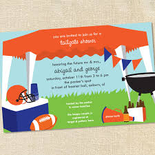 sweet wishes football tailgating tent invitations customize