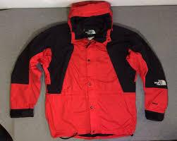 men s mountain light jacket 90s vtg the north face mountain light gore tex shell red black