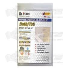 devcon white almond bath tub repair kit shower repair