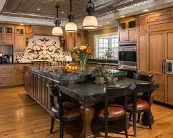 Kitchen Island Attached Table Houzz - Kitchen island with table attached