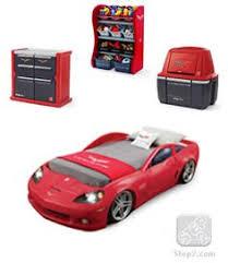 corvette car bed for sale amazonsmile step2 corvette bed with lights silver black