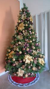 purple and gold tree decorations rainforest islands ferry