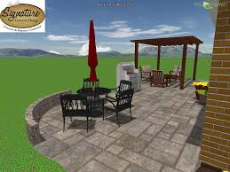 Concrete Paver Patio Designs by Latest Project Complete U2013 Paver Patio Pergola And Sitting Wall