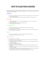 Great Resume A Great Resume Example Template