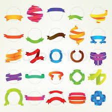 colorful ribbon colorful ribbon collection of fifteen design variations