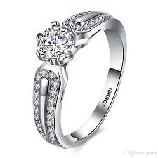 cubic zirconia white gold engagement rings g3 jewelry shiny cubic zirconia cz rings fashion brand