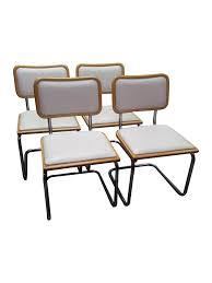 marcel breuer dining table set of 4 vintage chrome marcel breuer style cantilever dining chairs