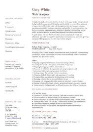 Designer Resume Examples by Web Designer Resume Sample Haadyaooverbayresort Com