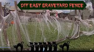 diy easy graveyard fence youtube