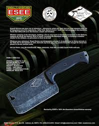 Esee Kitchen Knives Esee Knives Expat Cl1 Outdoor Cleaver Excellent Bushcraft Tool