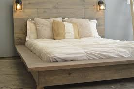 White Wood Bed Frame Quilmes Floating Rustic Wood Platform Bedframe By Knotsandbiscuits