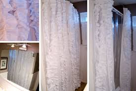 Target Curtains Shabby Chic by Bathroom Awesome White Ruffle Shower Curtain For Excellent