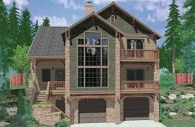 narrow lot house plans with basement plan 8189lb hillside retreat luxury houses craftsman house