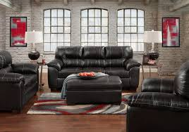 Austin Black Sofa  Loveseat Badcock Home Furniture  More Of - Badcock furniture living room set