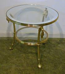 brass and glass end tables glass brass end table if i had a house pinterest glass and