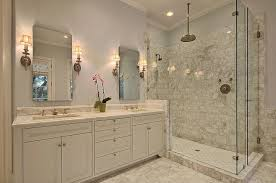 Master Bathroom Shower Tile Ideas Traditional Master Bathroom With Flat Panel Cabinets Complex