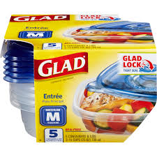 glad food storage containers entree 25 ounce 5 count bpa free